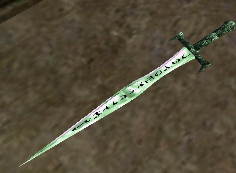 Описание стеклянный длинный меч с